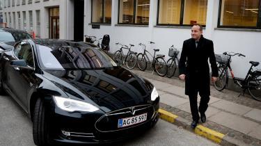 Tidligere klima- og energiminister Martin Lidegaard (R) havde en elbil som ministerbil.