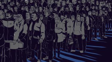 Halfdan Pisket har tegnet sig gennem livet fra migrant til indvandrer. Illustration fra bogen