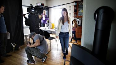 Optagelse til Mads Matthiesens film 'The Model', der ifølge dagens kronikør led en krank skæbne i hænderne på Nordisk Film Udlejning.