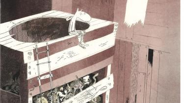 Som den moderne mand han er, skal Muledrengen lige have fred på toilettet til at tænke lidt over tingene.Illustration: Øyvind Torseter/'Muledrengen'