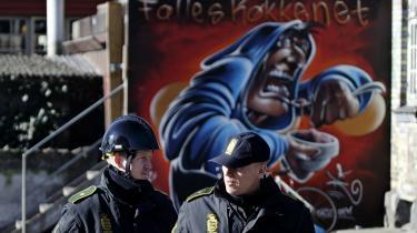 Politiet i aktion i Pusher Street på Christiania i marts 2014. De sager, der er rejst i kølvandet på den aktion, handler blandt andet om grænser for medvirken.