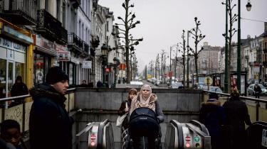 Molenbeek-ghettoen i Bruxelles.