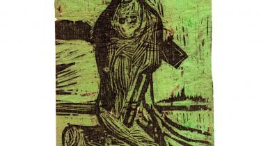 Illustrationerne i 'Oldtidssagaerne' fungerer, når de er dokumenterende. Tegninger og træsnit derimod er uforløste.   Illustrationer: Peter Brandes/'Oldtidssagaerne'