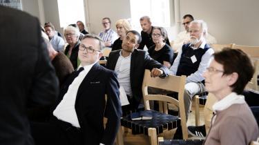 Ved et debatmøde i fredags diskuterede blandt andre professor Lisbet Christoffersen og jurist Jacob Mchangama (i midten) de tiltag mod hadprædikanter, som et folketingsflertal er blevet enige om.