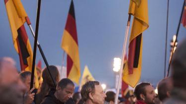 Pegida demonstration i Dresden.