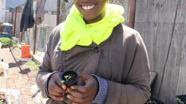 Yemi Amu har arbejdet med urban farming i Brooklyn, New York, i 10 år.