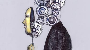 Den mekaniske opfattelse af tænkning er igen ved at vinde frem, nu med forankring i menneskets neurale system. Tegning: Garry Waters