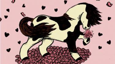 Stine har brug for at give sit hjerte til nogen. Det har Zenia Johnsen og Stine Spedsbjerg set i den vidunderlige lille billedbog 'Jeg elsker dig, hest!' Og selvom det er risikabelt, så findes der ikke nogen vigtigere evne end netop den at turde satse alle knapperne på kærligheden