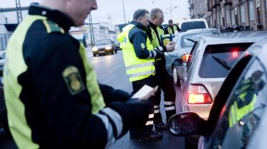 Politiet gennemfører i denne uge en landsdækkende kampagne mod spiritus- og narkotikakørsel. Arkiv