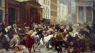 'Bulls and Bears in the Market', William H. Beards allegoriske maleri fra 1879.