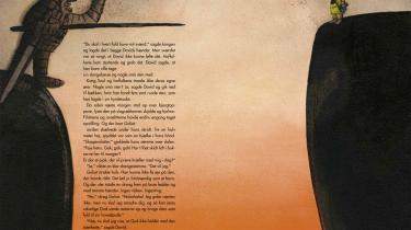 Side 130-131 i 'Bibelhistorie', som er skrevet af Ida Jessen og illustreret af Hanne Bartholin.