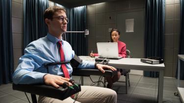 Joseph Gordon Levitt spiller whistleblower Edward Snowden i 'Snowden', Oliver Stones film om hans liv. Foto: Scanbox