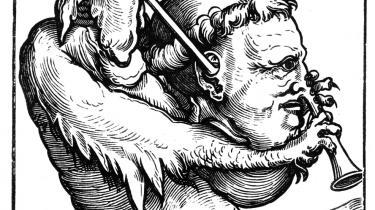 Som dette træsnit fra det 16. århundrede viser, var det ikke alle, der var lige begejstrede for de 95 teser, Martin Luther (1483-1546) formulerede, og som blev startskuddet til Reformationen. Nogle mente sågar, at den tyske munk dansede efter djævlens pibe.