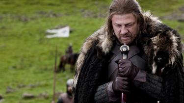 Sean Bean i rollen som Ned Stark i HBO-serien Game of Thrones