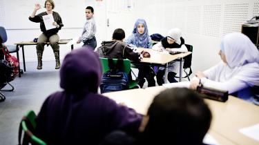 Arkivfoto framuslimsk friskole i Odense