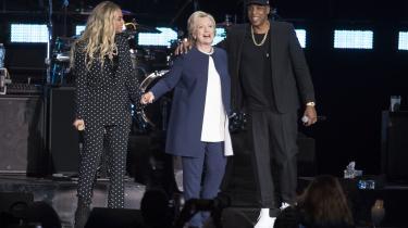 Jay Z og Beyonce støttede Hillary Clinton under valgkampen. De to musikere er ikoner på den synlige rigdom, amerikanerne ser som beviser på, at samfundet bliver rigere.