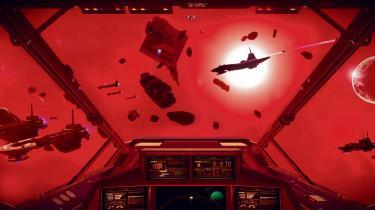 Billede fra spillet No Man's Sky, der handler om at udforske rummet, og hvor man bevæger sig rundt i en galakse, der konstant udvider sig.