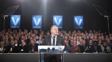 Lars Løkke Rasmussen er klar til en regering med LA og K, sagde han lørdag til Venstres landsmøde.