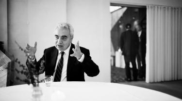 IEA's direktør, Fatih Birol, siger, at 'vi ikke er på rette vej' med hensyn til at begrænse klimaforandringerne.