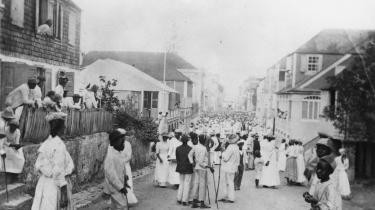 Fest i gaden på St. Croix en gang mellem 1888 og 1893.