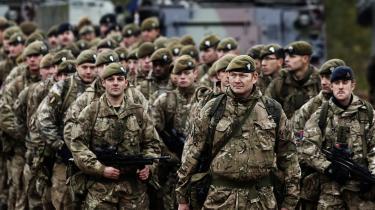 Britiske soldater på militærøvelse i Litauen. Netop militærindsatsen kan blive forhandlingsgenstand ved forhandlingerne med EU om Brexit.