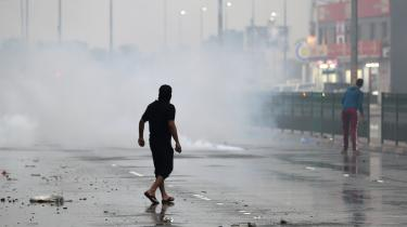 Street protests in Bahrain, one of the countries in which European surveillance technology has been used against political activists.