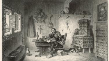 Luther i skjul for kirken i fæstningen i Wartburg, hvor han oversatte Biblen til tysk.