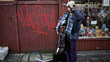 Goodiepal (her med sit løbehjul) er med sin systemkritik-i-praksis en af de mest ægte punkkunstnere på den danske scene.