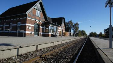 Stationsbygningen i Skævinge.