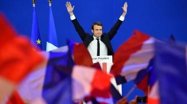 Der var jubel og lettelse, da sensationen indfandt sig ved Emmanuel Macrons valgfest i Paris søndag aften. Men selv om Macron fik flest stemmer i første runde af det franske præsidentvalg, var Marine Le Pen den store vinder i over halvdelen af landets kommuner