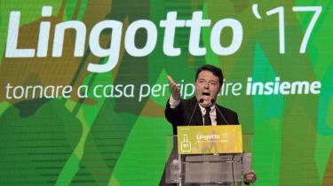 Det er kun tre år siden, at Matteo Renzi stormede frem og indgød håb om forandringer. I dag har han mistet troværdigheden, og op til søndagens primærvalg i Italiens store centrumvenstreparti PD forsøger Renzi at lukrere på Macrons succes