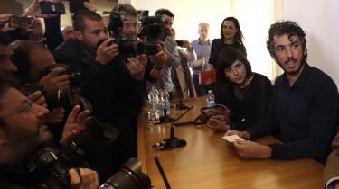 Den italienske journalistGabriele Del Grande blev fængslet i to uger, efter han var blevet anholdt i et område nær grænsen til Syrien uden 'den nødvendige tilladelse'.