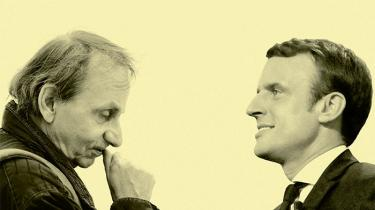 Det franske magasin Les Inrocks satte den franske forfatter Michel Houellebecq og den nuværende præsidentkandidat Emmanuel Macron over for hinanden til en samtale. Temaerne blev politisk repræsentation, folkeafstemninger som direkte demokrati, de franske statsbaner, religion, kinesisk stål og hvor meget staten skal blande sig i økonomien