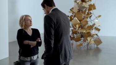 Anne (Elisabeth Moss) og Christian (Claes Bang) diskuterer ubehagelige sandheder i Ruben Östlunds nye film, 'The Square'. Foto: Filmfestivalen i Cannes