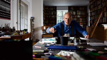 Per Kirkeby fotograferet i 2012 i sit hjem i Hellerup