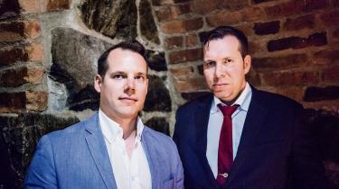 Daniel Friber (tv.) og Christoffer Dulny vil etablere alt-right-bevægelsen i Sverige.