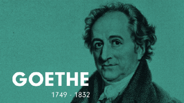 Den tyske forfatter Goethe har givet den tyske nation et sprog, han har forenet alle modsætninger i samfundet – og så har han skrevet de smukkeste, vildeste værker