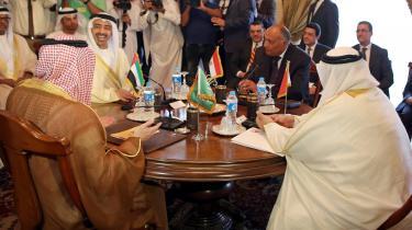 Udenrigsministre fra kvartetten bestående af Saudi-Arabien, De Forenede Arabiske Emirater, Bahrain og Egypten til et møde i 5. juli efter Qatars afvisning af deres krav.