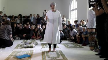 Jurist og kvindesagsforkæmper gennem et halvt liv Seyran Ates taler i anledning af åbningen af den liberale moské Ibn Rushd-Goethe i Berlin.