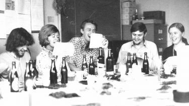 Julefrokost på Amager, 1971. Få år efter flyttede Datacentralen til de nye og mere strømlinede lokaler i Valby, hvor CSC stadig ligger i dag. Ebbe Rolf Nielsen har taget billedet og er derfor ikke selv med.