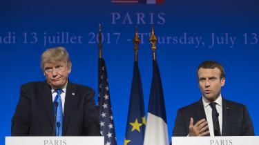 Fælles for Trump og Macron var at fremstå som en stærk mand med autoritet og greb om situationen. På forskellig vis oplever de begge nu en autoritetskrise