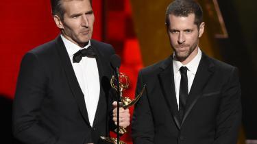 David Benioff og D.B. Weiss skal ikke arbejde alene på 'Confederate', men får selskab af ægteparret Nichelle og Malcolm Spellman, som skal være seriens executive producers. Ægteparret, som selv er af afroamerikansk afstamning, har også forsøgt at mane til besindighed. På billedet modtager Benioff og Weiss en Emmy for arbejdet med 'Game of Thrones'.