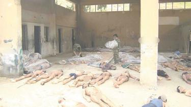 Fotoet er et af en lang række billeder, der er taget af fotografen Caesar, som har dokumenteret mishandlingen af fanger i de Assadkontrollerede fængsler. Billederne er blandt andet blevet forelagt Humans Rights Watch. Caesar var egentlig ansat af Assad i fængsler, men blev afhopper og smuglede i august 2013 tusindvis af billeder af tortur begået af Assads politi og militær ud af Syrien