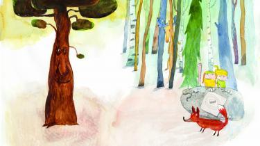 Træerne forstyrrer børnene og dyrene, som spiller Matador, og ræven ender med at råbe af dem. Træerne holder op med at rasle og undrer sig over al den surhed. Børnene og dyrene forklarer, at reglen er, at træer står stille. Træet synes, at det er en dum regel.