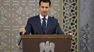 Bombning af hospitaler er foretaget systematisk af Assads regime gennem det meste af krigen i Syrien. Foto: Syrian Presidency Facebook page via AP