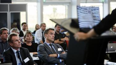 Nord Stream 2 er en platform for kommunikation ikke konfrontation, siger firmaets repræsentant i EU, Sebastian Sass (th.). Han sammenligner gasledningen med visionerne bag Kul- og Stålfællesskabet, som var forløberen til EU.