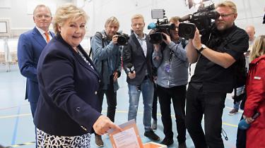 Statsminister Erna Solberg ser ifølge målinger ud til at kunne fortsætte endnu fire år som Norges statsminister.
