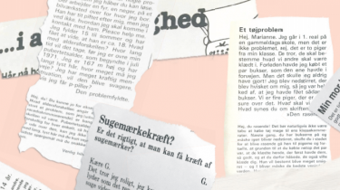 Mens ungealtid harbøvletmed eksistentieltumult og grundliggende usikkerhed, så harbåde deres spørgsmål til brevkassenog de mere eller mindre kvalificerede brevkasseredaktørers voksnesvar forandret sig drastisk gennem årtierne