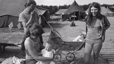 Ø-lejr på Vejlø ved Nakskov.