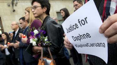 Mindehøjtidelighed for Daphne Caruana Galizia i Bruxelles.